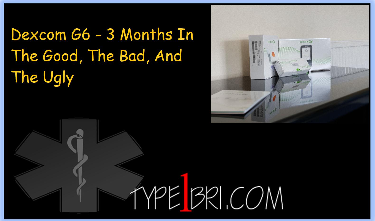 Dexcom G6 - 3 Months In - Type1Bri com - A Diabetic Blog